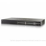 Cisco SF500-24P 24-port 10/100 POE Stackable Managed Switch with Gigabit Uplinks