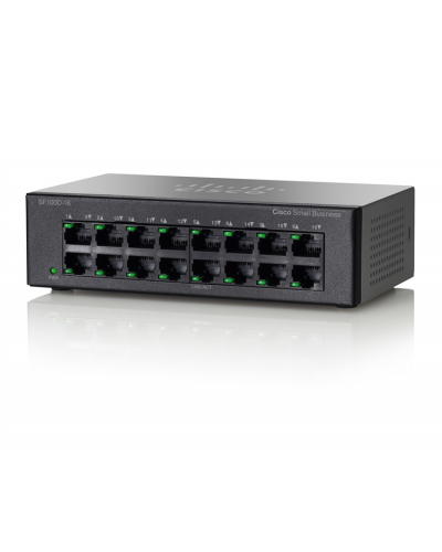 Cisco SF100D-16 16-Port 10/100 Desktop Switch